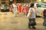 Scuola, a Palermo lezione a piedi