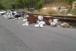 Palermo, scia di rifiuti in via Ruffo di Calabria