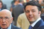"""Renzi ringrazia Napolitano: """"In queste ore lascerà l'incarico"""""""
