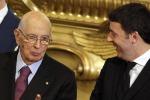 Asse Napolitano-Renzi: bisogna accelerare la ripresa, ora le riforme