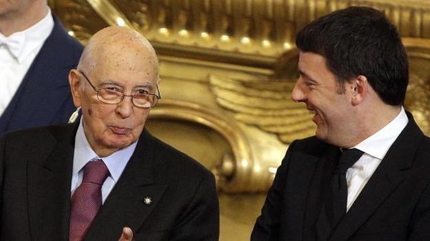 governo, presidente della Repubblica, Quirinale, Giorgio Napolitano, Matteo Renzi, Sicilia, Politica