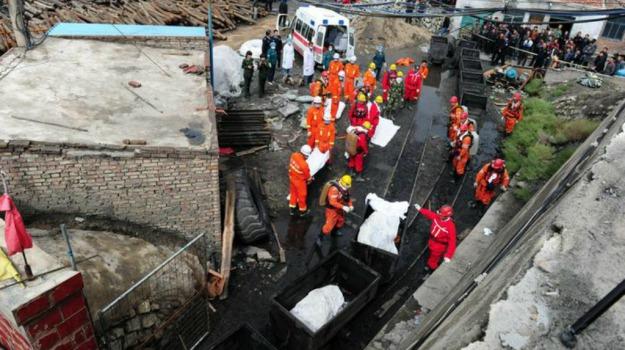16 morti, carbone, CINA, crollo, miniera, Sicilia, Mondo