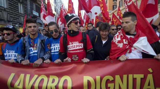 Cgil, jobs act, manifestazione, roma, Susanna Camusso, Sicilia, Economia