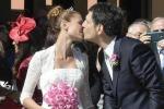Fabrizio Frizzi e Carlotta Mantovan, finalmente sposi