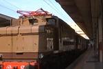 Treni sulle vecchie rotaie della ex ferrovia a Piazza Armerina