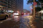 Temporale a Palermo nella notte: allagamenti, auto in panne e incidenti