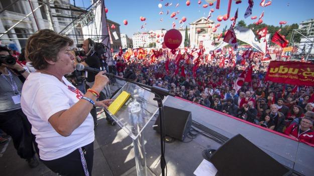 Cgil, manifestazione, roma, sciopero, Susanna Camusso, Sicilia, Economia