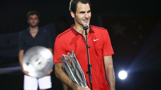 CINA, SHANGAI, Tennis, Roger Federer, Sicilia, Sport