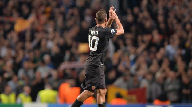 Calcio, champions, roma, totti, Francesco Totti, Sicilia, Archivio, Sport