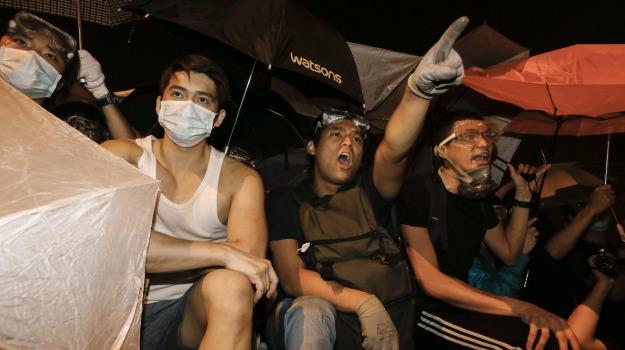 Hong Kong, manifestazioni, protesta, studenti, Leung Chun-ying, Sicilia, Mondo