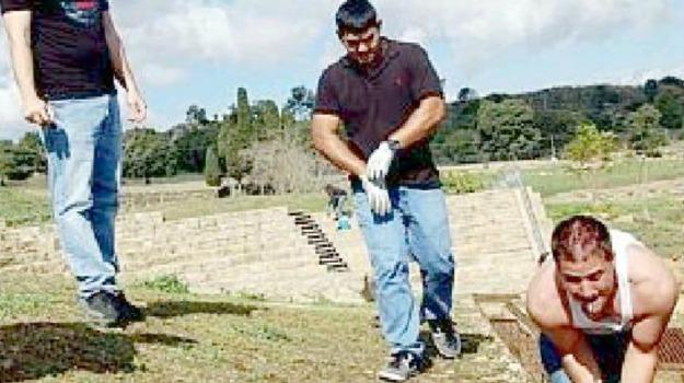 Aidone, area archeologica, marines americani, Morgantina, Enna, Cronaca