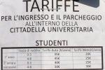 Parcheggi a pagamento all'Università di Palermo, scatta la protesta. Foto