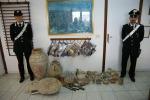 Ritrovati a Gela una settantina di reperti archeologici nell'abitazione di un privato