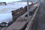 Sant'Agata, una forte mareggiata distrugge la banchina. Il video dei danni