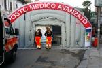 Trasferimento del pronto soccorso dell'ospedale dei Bambini. Foto e Video