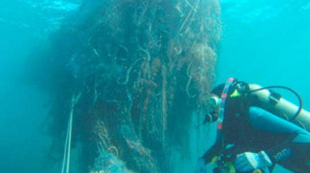 atolli, pesca, pulizia, rete, rifiuti, Sicilia, Vita