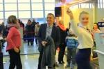Passeggero numero 500 mila, compagnia aerea festeggia con un flashmob