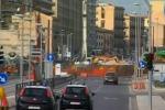 Cantiere per il tram a Palermo, nuovi lavori al via tra i raid dei vandali