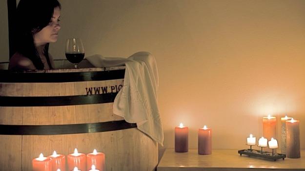 massaggio, trattamento, uva, Vino, Sicilia, Vita