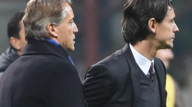 Calcio, derby, inter, Milan, SERIE A, Pippo Inzaghi, Roberto Mancini, Sicilia, Sport