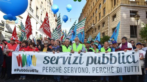 Statali in piazza, Susanna Camusso, Sicilia, Politica
