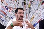 """Immigrazione, Salvini: """"Siamo lo zimbello dell'Europa"""""""