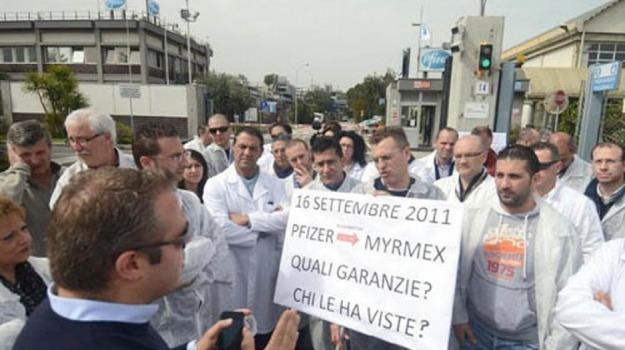 catania, myrmex, vertenza, Catania, Economia
