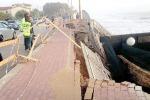 San Leone, crolla la pista ciclabile, distrutta da due giorni di maltempo