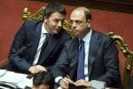 """Renzi rompe con Alfano: """"Ha fatto il ministro di tutto, se non arriva al 5% non si blocca la legge"""""""
