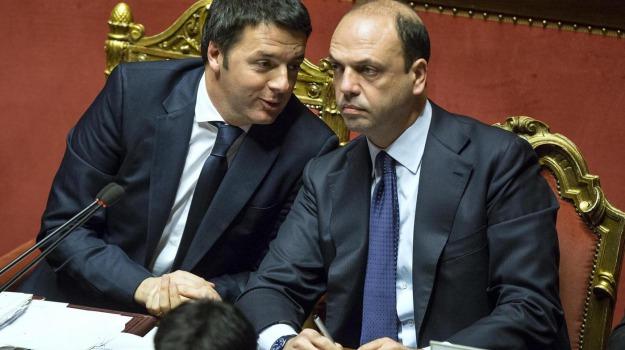 ap, legge elettorale, pd, Angelino Alfano, Matteo Renzi, Sicilia, Politica