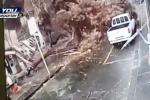 Paura per la tromba d'aria su Catania, salva per miracolo un'auto in sosta Danni in tutta la provincia
