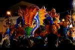Carnevale bagnato ad Acireale, al via la prima sfilata dei carri allegorici