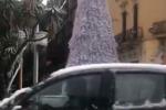 Messina, storica nevicata in città e a livello del mare
