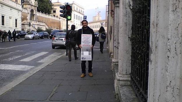imprenditore, impresa fallita, sciopero della fame, Emilio Missuto, Giorgio Napolitano, Caltanissetta, Cronaca