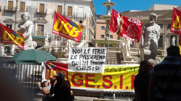 cassa integrazione, comune, Gesip, Palermo, protesta, Palermo, Cronaca