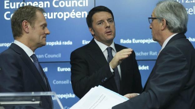 euro, flessibilità, investimenti, ue, Jean Claude Juncker, Matteo Renzi, Sicilia, Mondo
