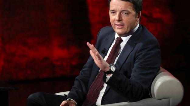 intervista, premier, rai, tv, Matteo Renzi, Sicilia, Politica