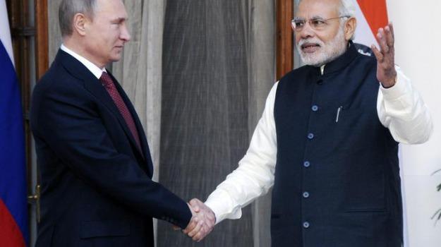 accordo india russia, reattori nucleari, Narendra Modi, Vladimir Putin, Sicilia, Mondo