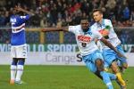 Zapata salva un brutto Napoli, Sampdoria beffata: azzurri al terzo posto