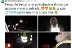 """Resta senza benzina in autostrada, Federica Pellegrini """"salvata"""" dal suo principe azzurro Filippo Magnini - Foto"""