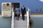 Senza velo in Arabia Saudita: critiche su Michelle Obama - Foto