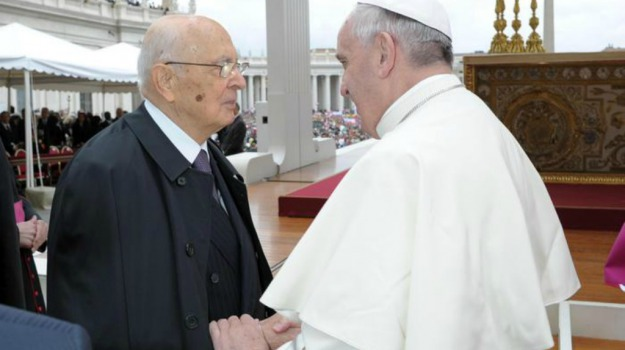 lettera, papa, presidente della Repubblica, Giorgio Napolitano, Papa Francesco, Sicilia, Politica