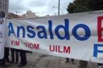 Futuro incerto per 160 dipendenti della Ansaldo Breda, protesta a Palermo