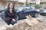 L'albero cade all'improvviso sull'auto: salva per miracolo