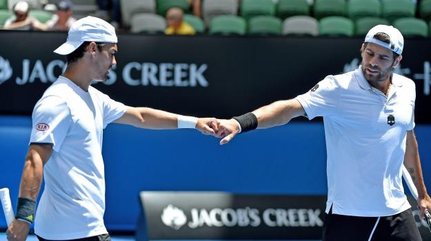 australian open, doppio, Tennis, Fabio Fognini, Simone Bolelli, Sicilia, Sport