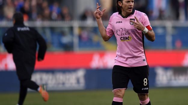 Calcio, capitano, rosanero, Edgar Barreto, Palermo, Calcio