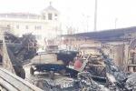 Siracusa, incendio distrugge sette barche ai cantieri navali dei calafatari