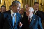 """Obama: """"D'accordo con Napolitano per riforme strutturali in Europa"""""""