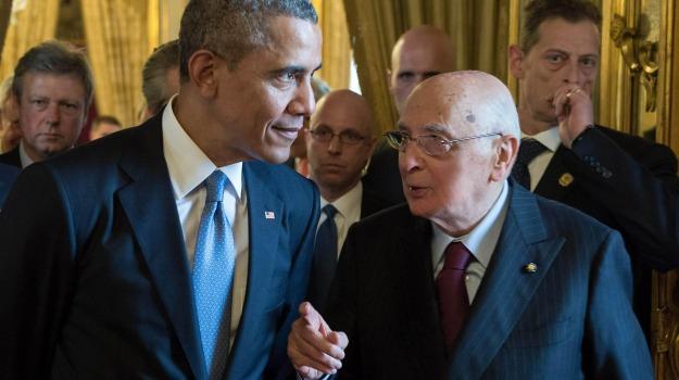 europa, presidente americano, presidente della Repubblica, Barack Obama, Giorgio Napolitano, Sicilia, Politica
