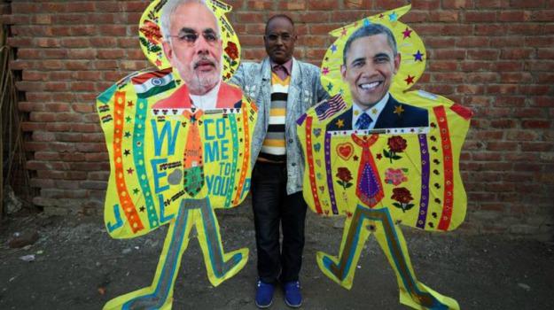 india, Morte Re Abdullah, presidente stati uniti, sicurezza, visita, Agra del Taj Mahal, Arabia Saudita, Barack Obama, Sicilia, Mondo